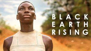 black woman with great cheek bones looking skyward